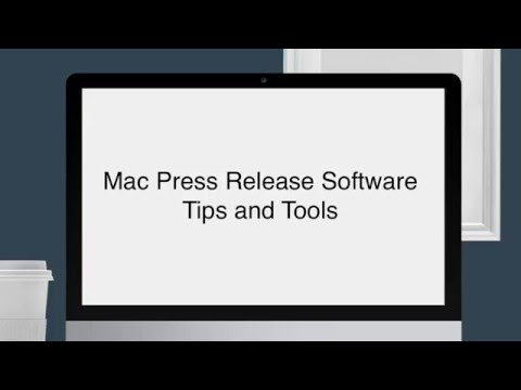 Mac Press Release Submission Software and Syndication Tools