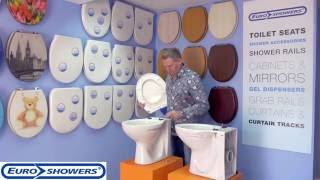 Euroshowers Toilet Seat Fitting Instructions (Top/Bottom Fitting)