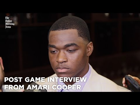 Post game interview from Amari Cooper after huge win over the Giants.