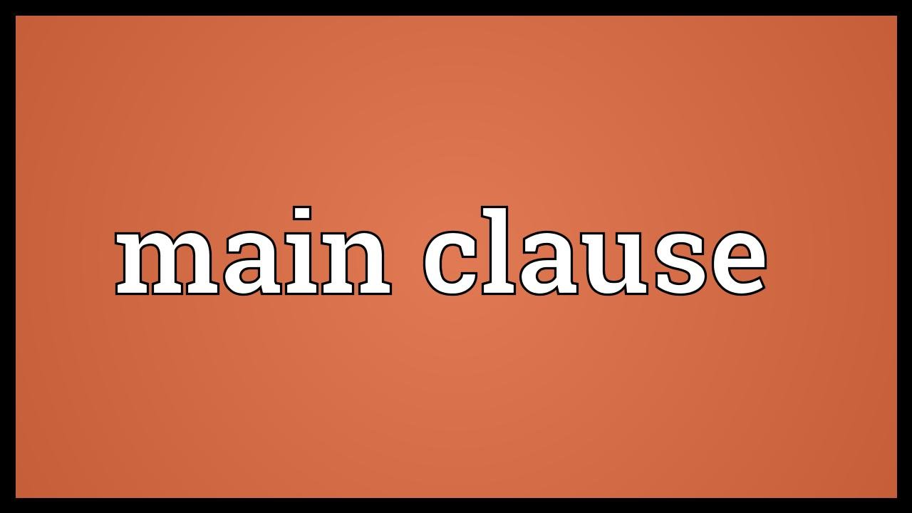 main clause