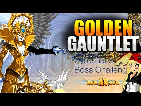 Golden Gauntlet NEW GOLD ITEMS! New ShadowScythe Sets! AQW AdventureQuest Worlds