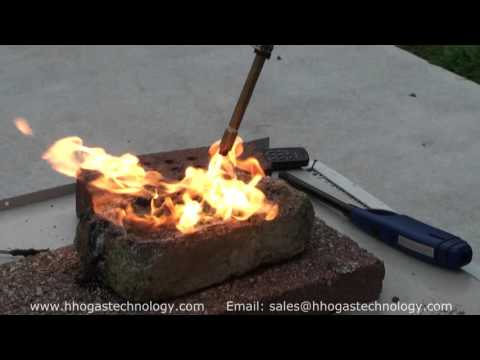 HHO Gas Bearing Grease and Motor Oil Incineration Demonstration 10-6-2015