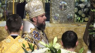 Head of new Ukraine's orthodox church enthroned