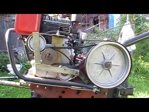 Регулировка ремней старого мотоблока МБ - 1  (петлеуловитель)
