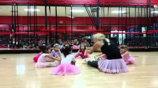 Princess Ballet Class warm-up at Ultimate Sports Institute Weston for 3-5 year olds