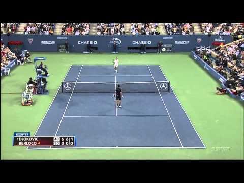 Novak Djokovic vs Carlos Berlocq crazy rally