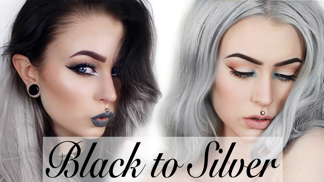 How To Black To Silver Hair Step By Step Evelina