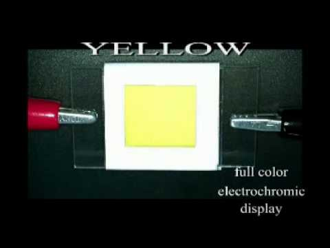 Full color organic electrochromic display (CMY)