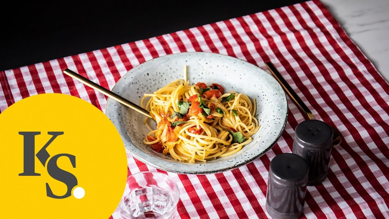 5 Zutaten Rezepte Fenchel Spaghetti Mit Tomate Und Minze Youtube
