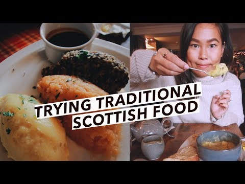 Trying Scottish Food: Haggis, Neeps & Tatties, Cullen Skink, Fish Pie | Edinburgh Travel Vlog