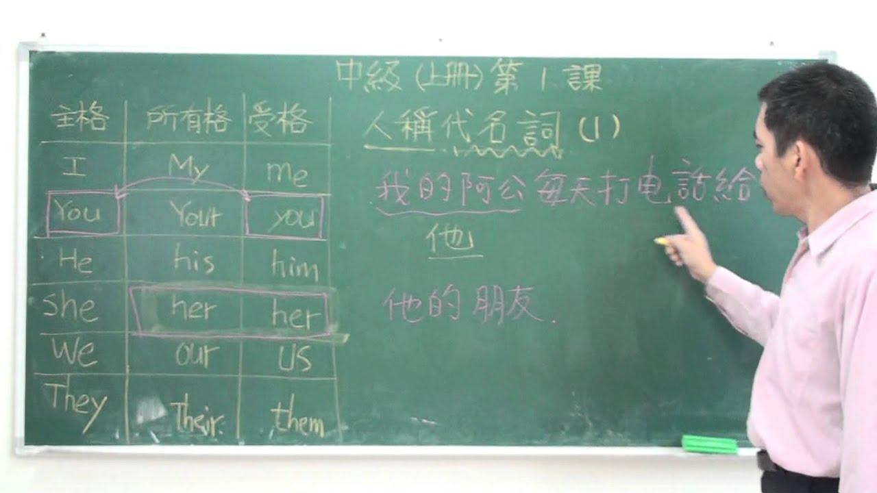 專門為中國人講解的英文文法-中級上-第1課 人稱代名詞01 - YouTube
