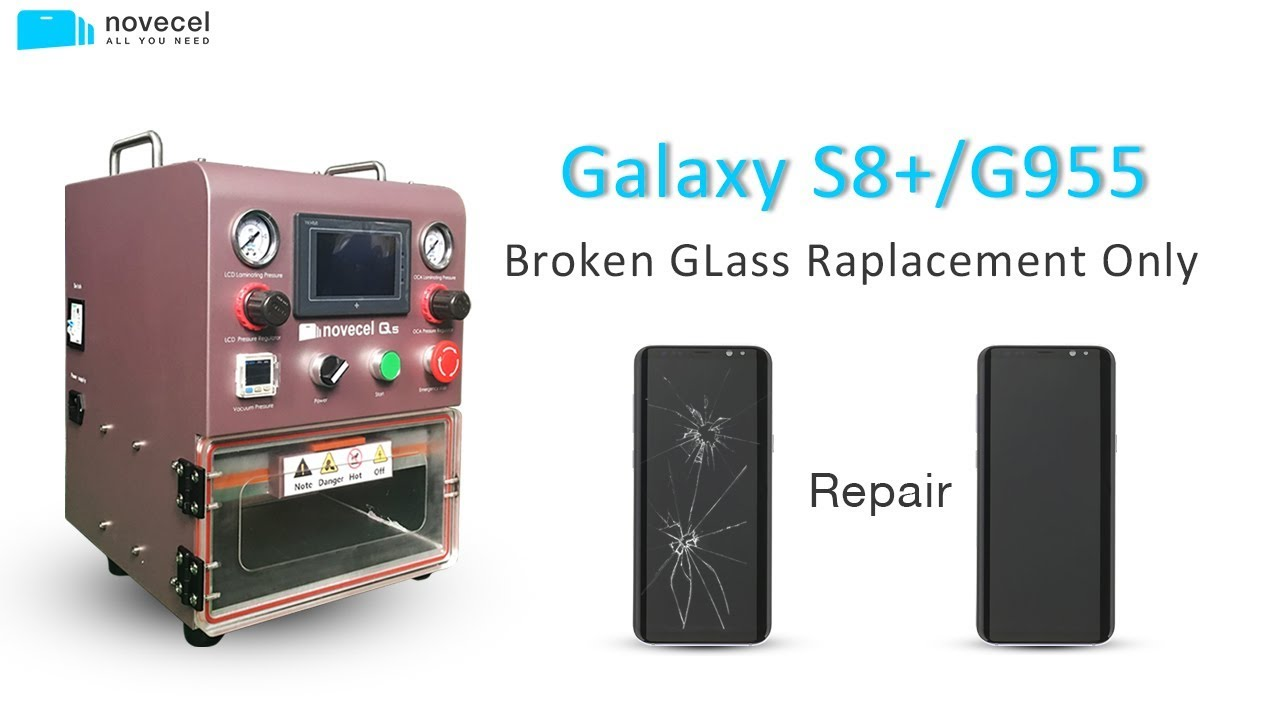 How To Replace Samsung S8+ G955 Broken Front Glass Only-Detailed Tutorial