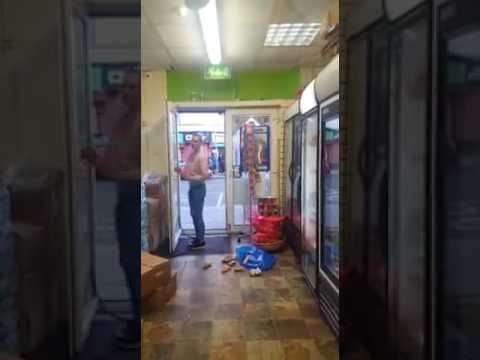 Irish Woman destroys Goods in African shop on Parnell street Dublin