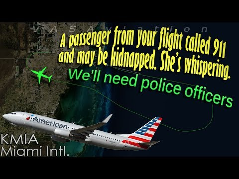 American B737 may have a kidnapped passenger onboard!!