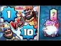 WOW! LEVEL 1 vs LEVEL 10 PLAYERS | Clash Royale | LEGENDARY SUPER MAGICAL CHEST HUNT #8