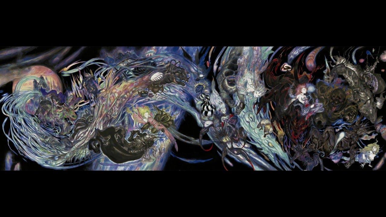 Final Fantasy Xv Yoshitaka Amano Big Bang Art Youtube