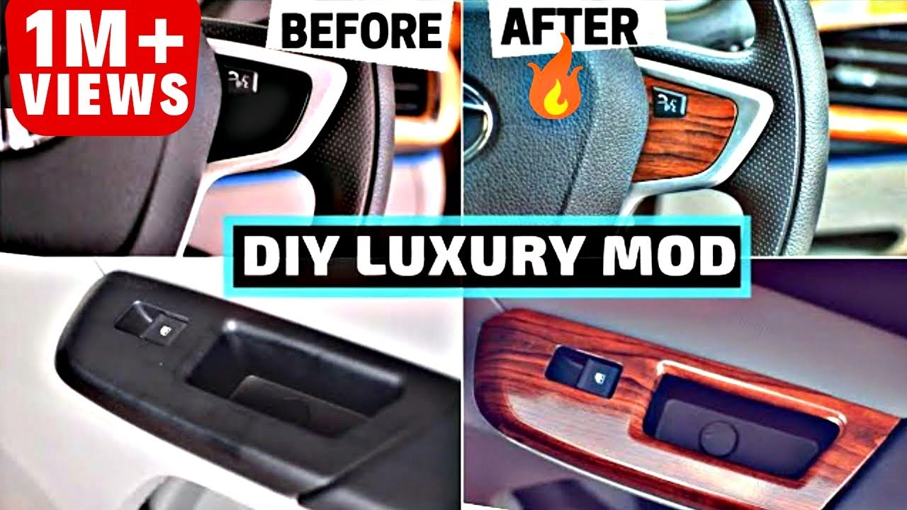 DIY CAR INTERIOR MODIFICATION CAR VINYL WRAP | CAR ...