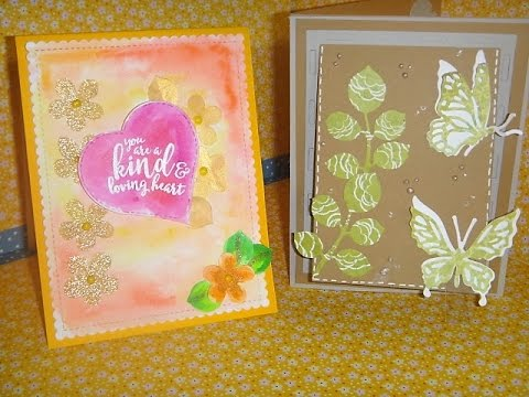 MAKERS MART DIE OF THE MONTH KIT March -2017 - 2 cards