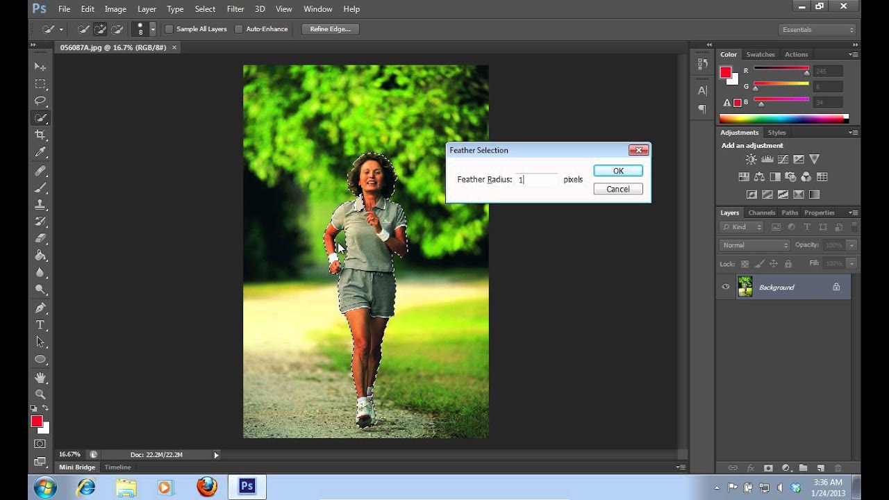How to put background colour in photoshop cs6