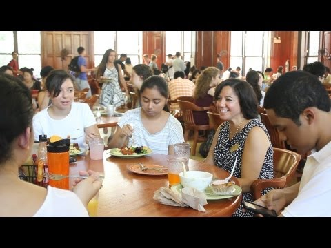 In John Jay, Martinez lunches with students