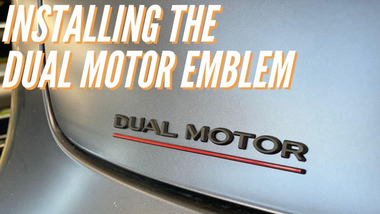 Installing the Tesla Dual Motor Emblem
