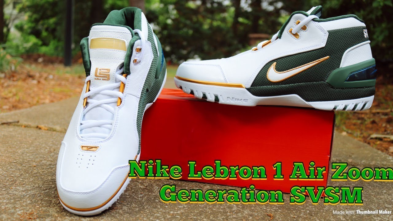2cf0f967439a Nike Lebron 1 Air Zoom Generation SVSM In Depth Review - YouTube