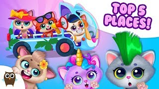 TOP 5 Places to Visit in Little Kitty Town | TutoTOONS Cartoons & Games for Kids