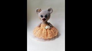 Вяжем платье принцессы крючком для мишки