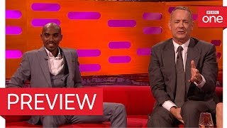 Tom Hanks quotes Forrest Gump for Mo Farah - The Graham Norton Show 2016 - BBC One