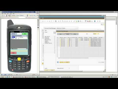 SBO4 PDA for production order picking for SAP Business One