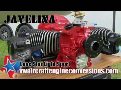 VW aircraft engine conversions, Lone Star, Twin Cylinder, 4 stroke aircraft engines.