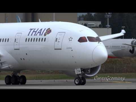 1st Thai Airways 787 Dreamliner Full Test Flight @ KPAE Paine Field