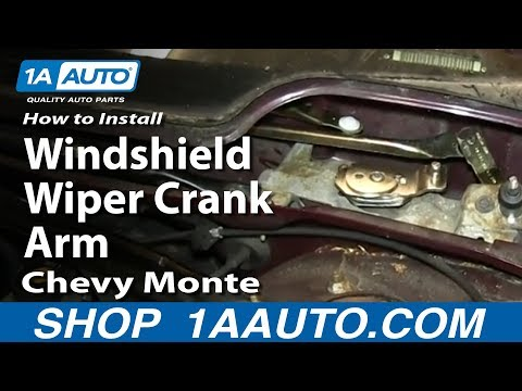 How To Install Replace Windshield Wiper Crank Arm Chevy Monte Carlo