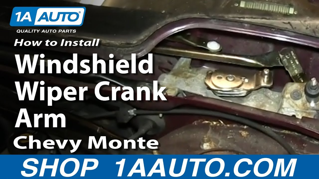 How to install replace windshield wiper crank arm chevy for 2002 chevy impala window problems