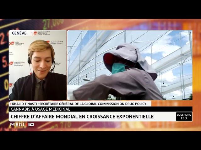 Khalid Tinasti dans Questions Éco sur Médi1, cannabis médical au Maroc