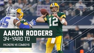 aaron rodgers tosses 34 yard td on opening drive packers vs cowboys nfl divisional highlights