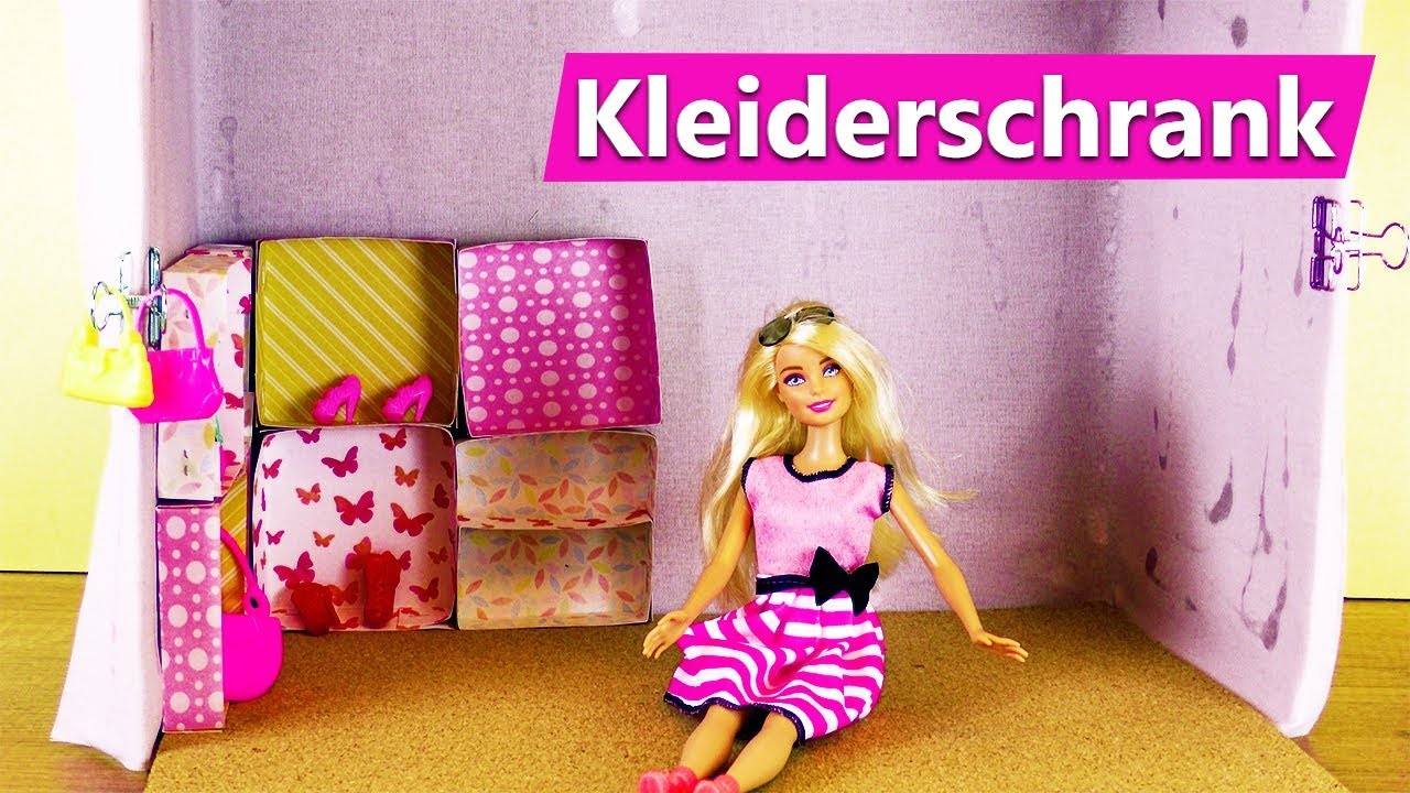 barbie kleiderschrank selber machen einfach begehbarer. Black Bedroom Furniture Sets. Home Design Ideas