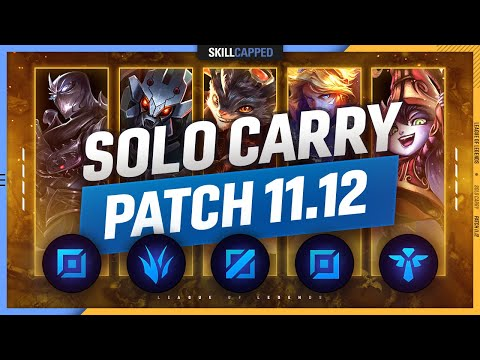 Download 3 BEST SOLO CARRY Champions for EVERY ROLE in PATCH 11.12 - League of Legends