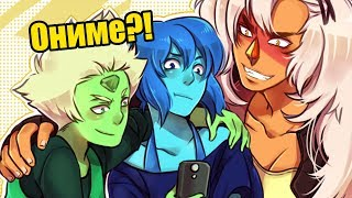 Вселенная Стивена стала АНИМЕ!?   Обзор на аниме Houseki no Kuni (Страна самоцветов)