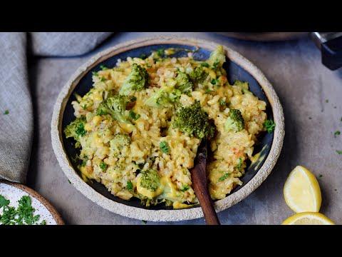Creamy Vegan Broccoli & Cheese Risotto (Easy Recipe)