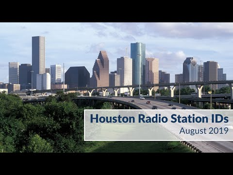 Houston AM-FM-HD Radio Station IDs (August 2019)