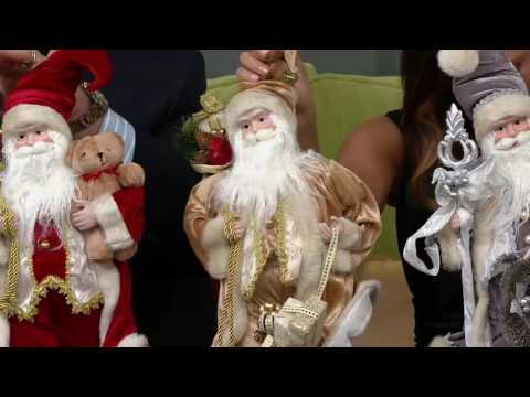 Dennis Basso 18 Elegant Faux Fur Standing Santa on QVC fc6f5cfca6cc8