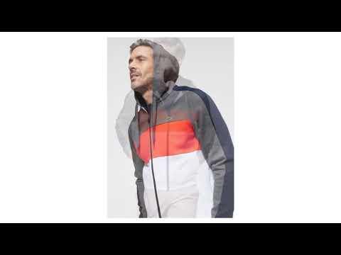 325e4abf31 LACOSTE Mikina s kapucí šedý melír   svítivě oranžová   bílá - YouTube