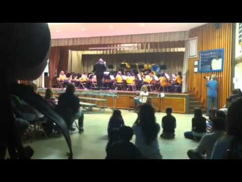 Avenel Middle School Wildcat Band Performing 'Colors of the Wind' on May 17, 2011
