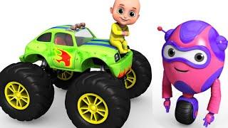 Kids Toys  - Monster Truck Racing for Kids | Surprise Egg Toys  from Jugnu kids