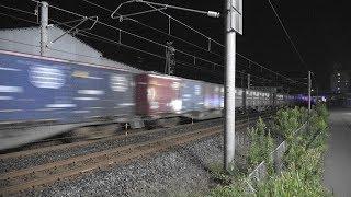 【臨貨アリ!】深夜の貨物撮影記 EF510 ×9本 日本海縦貫線(北陸本線)福井~森田 2019年10月17日