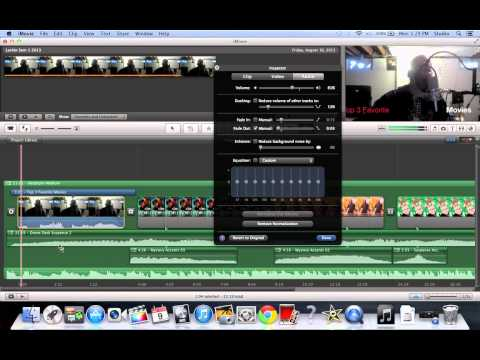 iMovie 9 Basics Tutorial #14 Audio Ducking, Fading and mixing
