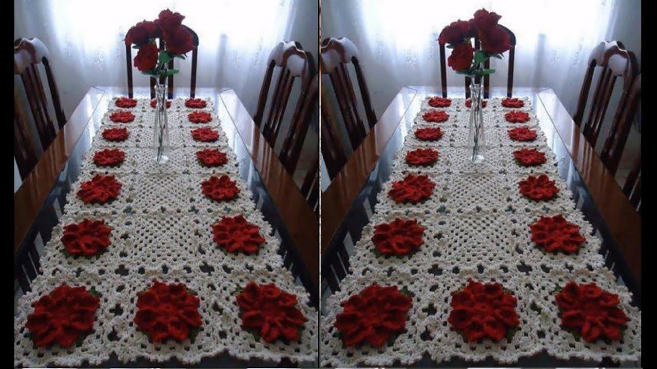 Manteles para adornar tu mesa tejidos a crochet youtube - Manteles para mesa ...