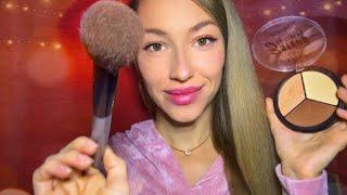ASMR Makeup Artist Teaches You АСМР макияж Визажист учит вас