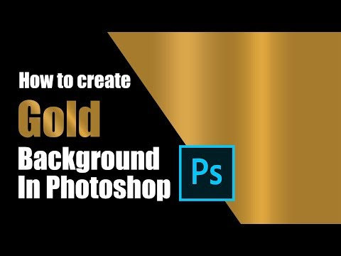 How To Create Gold Background In Photoshop CC